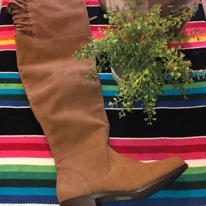 Brand new over the knee tan boots size 10